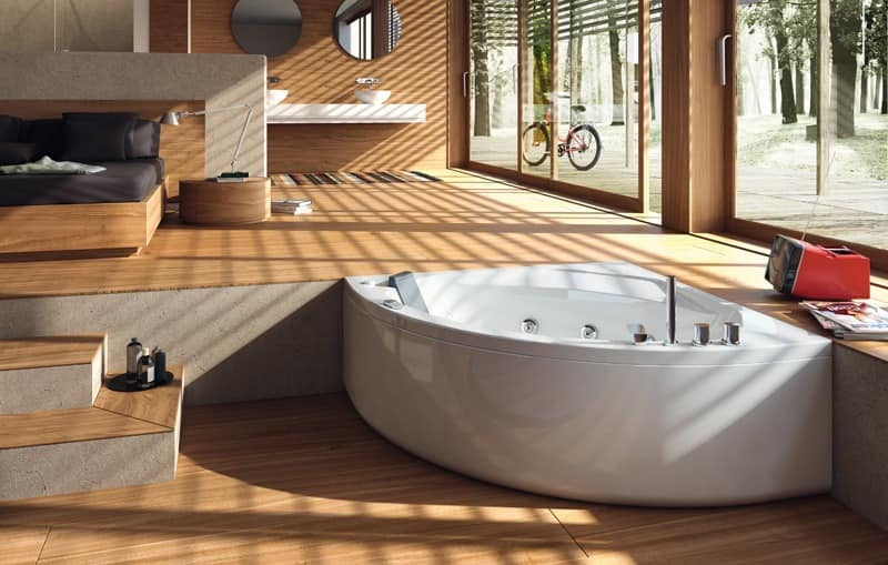 modern bathtub white acrylic bathroom idfdesign. Black Bedroom Furniture Sets. Home Design Ideas