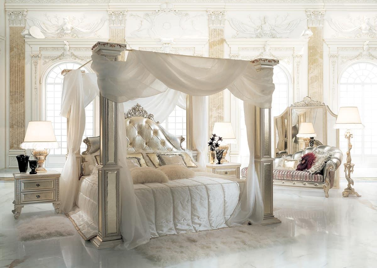 Canopy bed for hotel suite idfdesign - Camera da letto con baldacchino ...