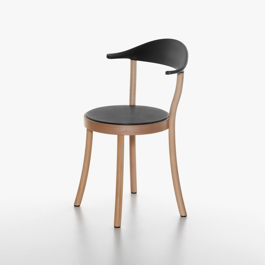 1212 20, Chair With Round Seat, In Beech And