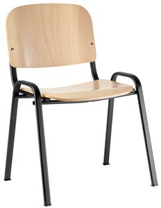 Conferenza plywood, Chair with plywood seat, equippable with writing tablet