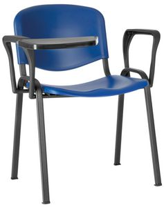 Conferenza polypropylene, Chair for large hall, space-saving, with polypropylene seat