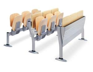 Copernico, Seats for university classrooms, in wood and metal