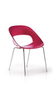 Ella 985, Colored plastic chair for waiting room