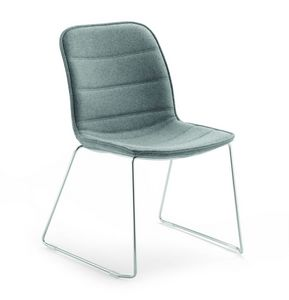 Gea 593, Chair for conference rooms, with sled base