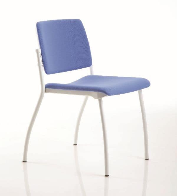 ESSENZIALE stackable, Stackable chair suited for office, simple office chairs