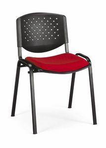 Stella fori 100, Stuffed chair for lecture halls, stackable