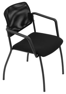 Universal net 4 legs, Stackable chair with mesh backrest, for conference room
