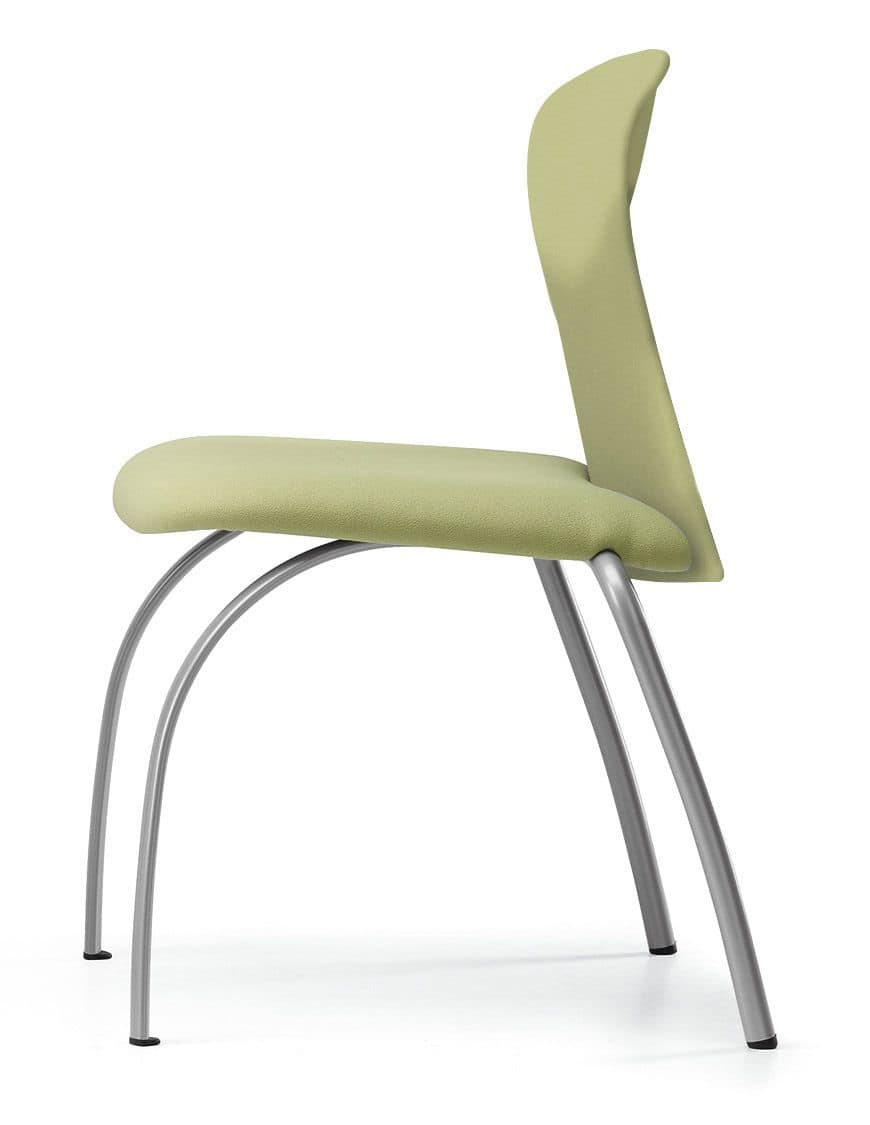 VULCAN 1270 Z, Upholstered chair for conferences, with metal base