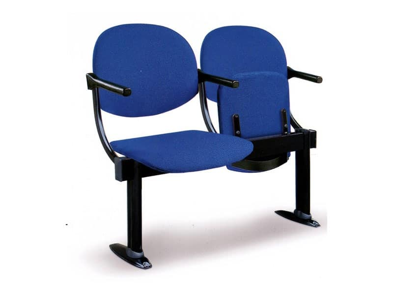 Aura su barra, Upholstered chair on beam for conference rooms