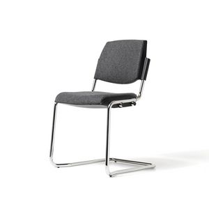Bonn, Chair with chrome legs, stackable, for conference halls