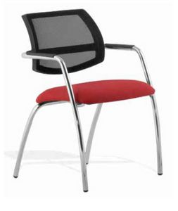 Cindy, Conference chair with mesh backrest