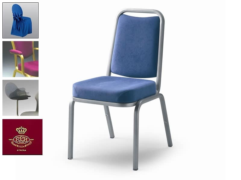 Fiora 60/1, Chair covered in fabric or leather, fireproof