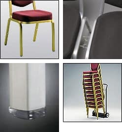Fiora 60/3, Padded stackable chair, various options available