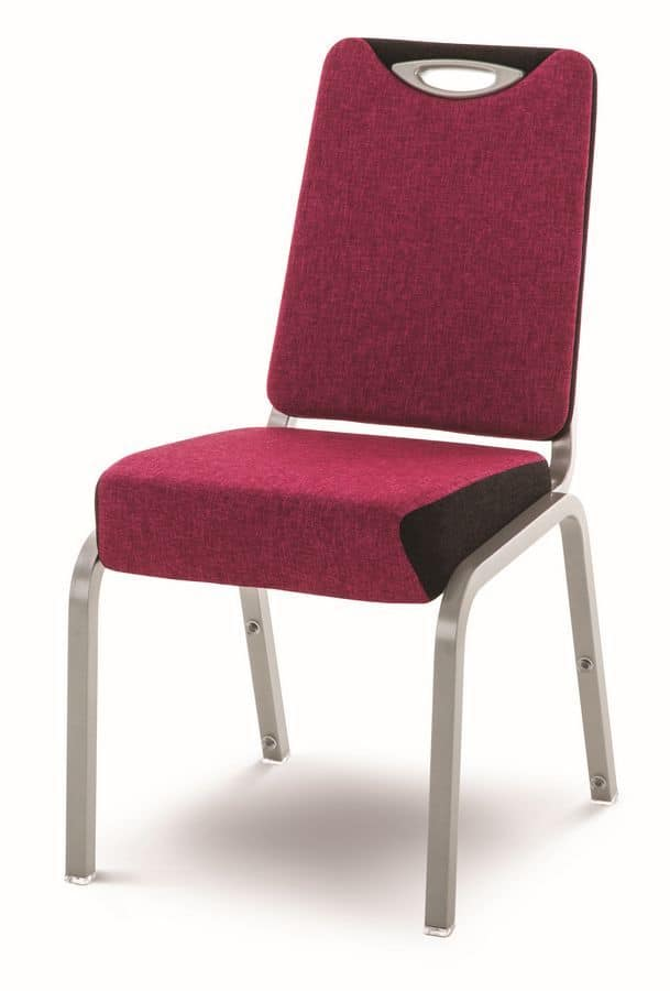 Inicio 09/1H, Stackable chair, for banquets, conferences and meetings