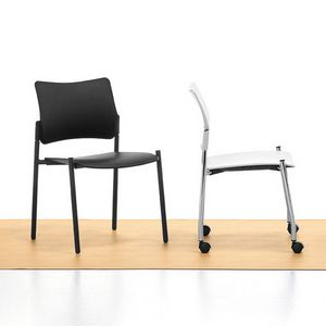 Urban 01, Stackable steel chair, seat and back in polypropylene