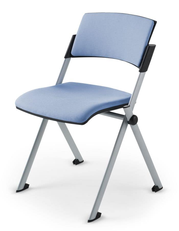 Comoda Soft 01, Stackable chair padded in polyurethane, for conference halls