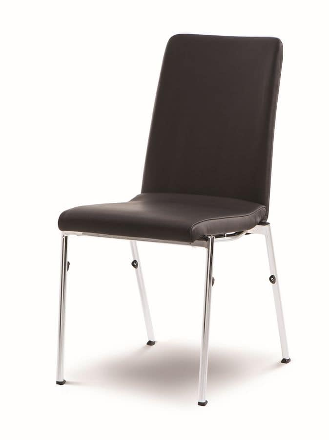 Evosa Congress 08/4, Steel chair extremely comfortable, contoured seat, for conference rooms