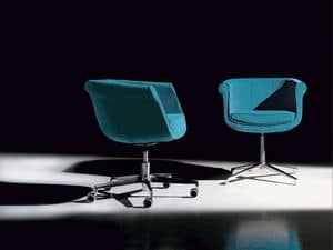 Liz gas, Modern upholstered armchair with steel frame