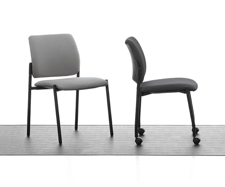 Urban Soft 01, Metal upholstered chair, for conference