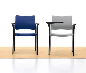 Urban 02, Stackable chair in metal and polypropylene, for meeting room