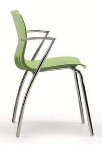 WEBBY 334, Stackable chair with nylon shell, in various colors
