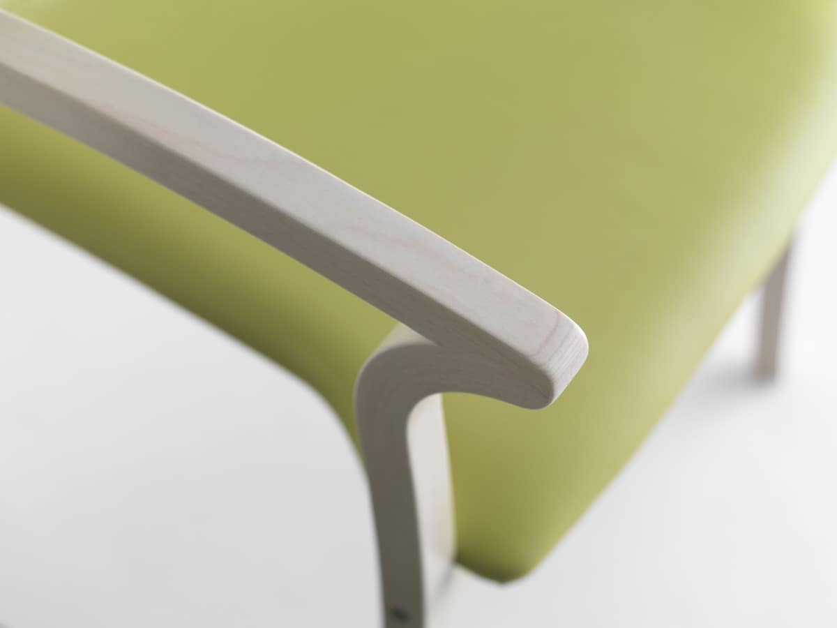 Silver Age 03 P, Stable chair with armrests, robust, for waiting room