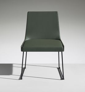 FLEET 1, Upholstered chair with sled base