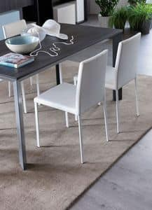 Diva, Leather chair ideal for modern kitchens
