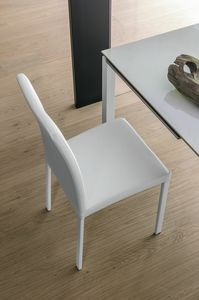 ELISIR SE602, Chair with padded seat and chromed metal legs