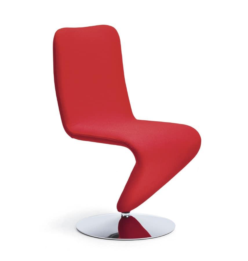 Fully Upholstered Swivel Chair Original Shape Idfdesign