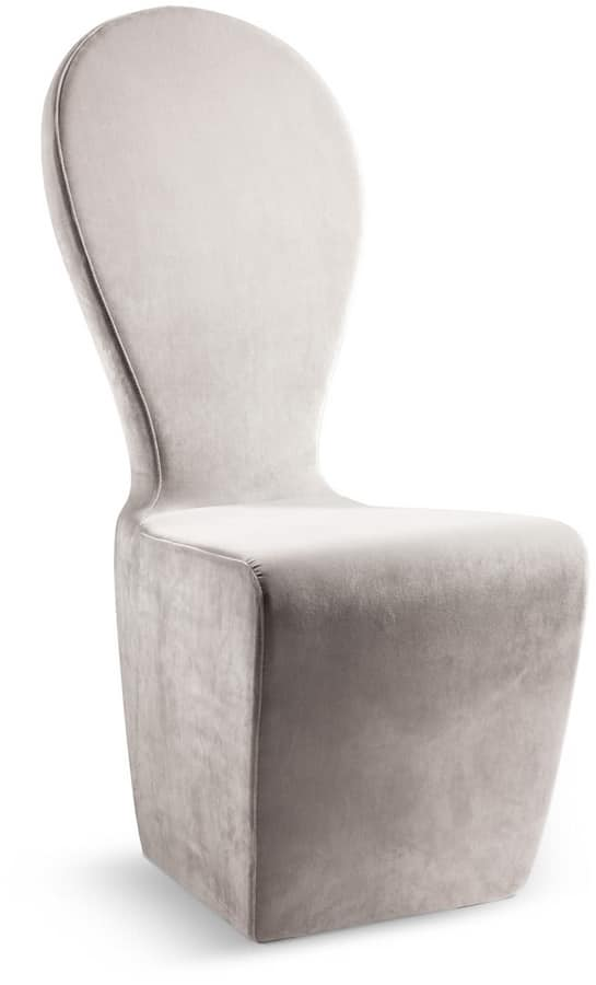 Mondrian chair, Iron chair fully upholstered with polyurethane