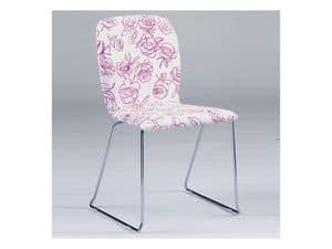 Picture of Platino, leather or fabric chairs