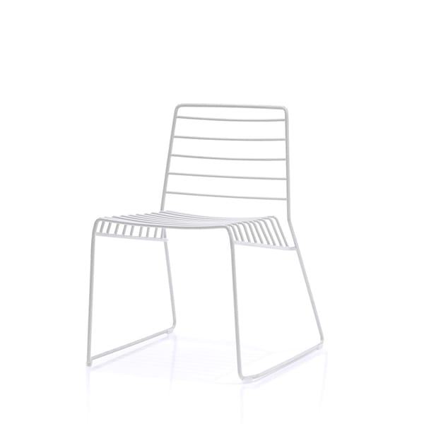 Park, Chair in steel rod, stackable, also for outdoors
