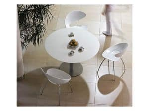 Twist S H, Metal chair with seat made of Hirek, for bars and restaurants