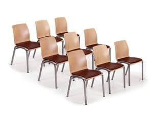 Picture of Wave 1450 conference, linear metal chairs