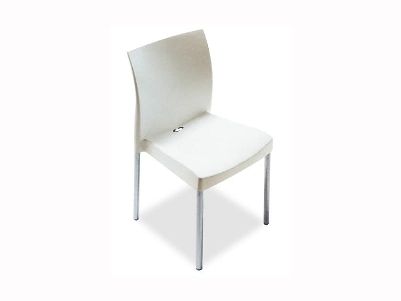 Dining chair with metal legs restaurant 2030 by franzoni arredamenti
