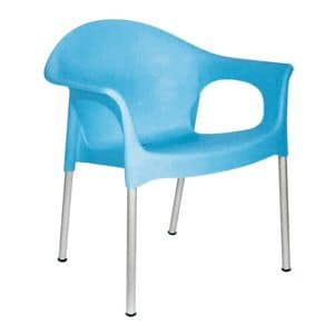 Picture of 691 - PL, metal chair with plastic seat