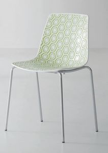 Alhambra, Chair with metal structure, polymer base