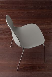 Art. 019 Shell Metal, Metal and polypropylene chair, stackable