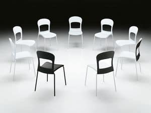 Picture of AUGUSTA, chair with seat in plastic material