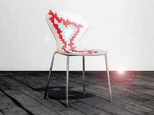 Picture of Big Bang cod. 93, metal chairs with plastic seat