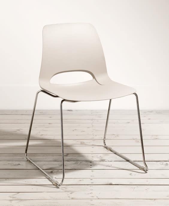BOPPER SLITTA Plastic modern chairs Bakery IDFdesign