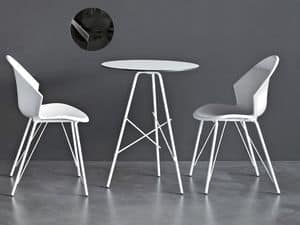 City X PP, Modern chair in painted metal, for bars and restaurants