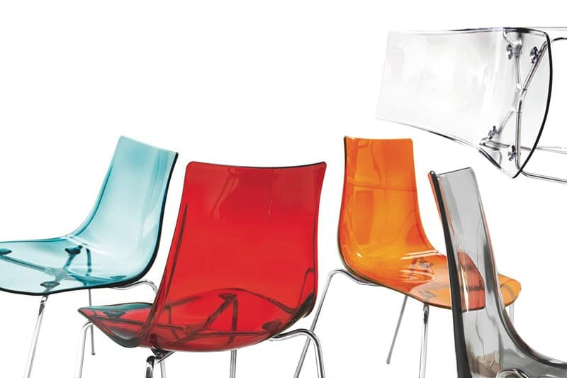 Metal chair with plastic transparent seat idfdesign - Chaise baroque transparente ...