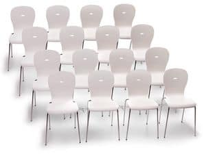 Picture of Megan 1731 conference, chair with seat in plastic material