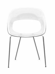 Nadia RG, Polycarbonate chair, with comfortable seat