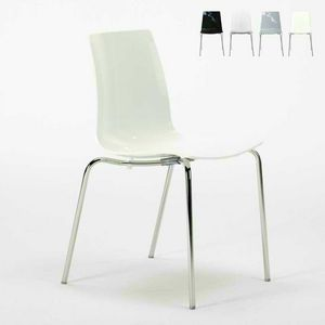 Bar chairs kitchen legs stackable steel LOLLIPOP Grand Soleil - S3343N, Economical stackable polycarbonate chair