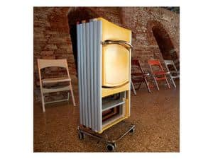 Picture of Compact cod. 60, metal trolley for chairs