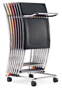 CS 071, Metal trolley for conference chairs