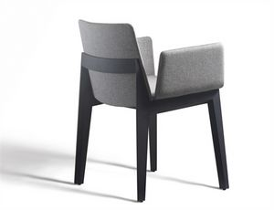 Ava 646N, Upholstered chair with armrests, for restaurants and bars